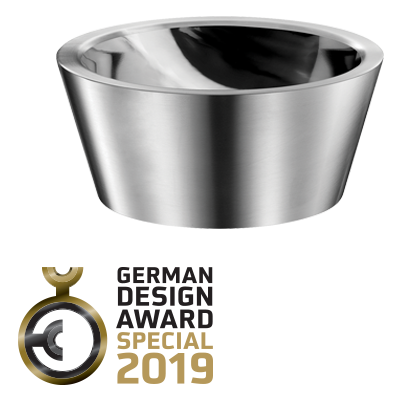 """German Design Award 2019: Prädikat """"SPECIAL MENTION"""" für das Aufsatzbecken ALGUI aus Edelstahl"""