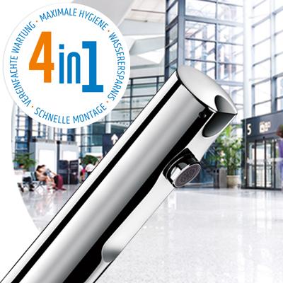 Berührungslose T4 - Elektronische Mischbatterien und Ventile für Waschtisch