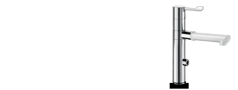 Elektronischer Mischer mit Wechselauslauf
