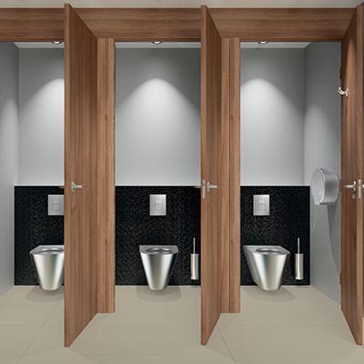 Welche Anforderungen werden an öffentlich-gewerbliche Sanitärräume gestellt?