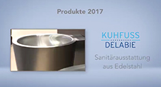 Sanitär-Ausstattung aus Edelstahl mit doppeltem Materialfinish