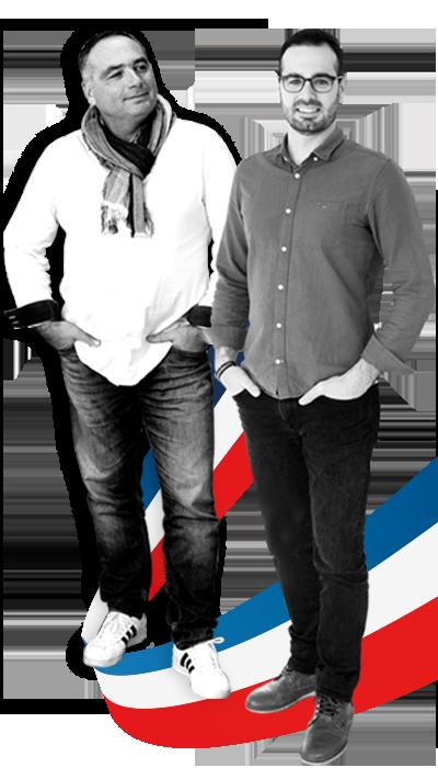 Éric Denis von EDDS und Nicolas Testori von DELABIE im Gespräch