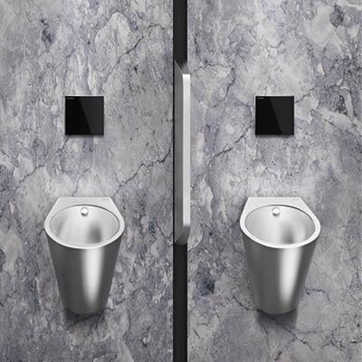 Design-Urinal aus Edelstahl FINO