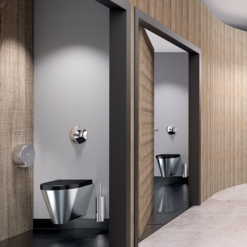 Im öffentlich-gewerblichen Sanitärraum stehen durchschnittlich alle 15 bis 20 Jahre Sanierungen an, weshalb dem Aspekt Design oft eine untergeordne...