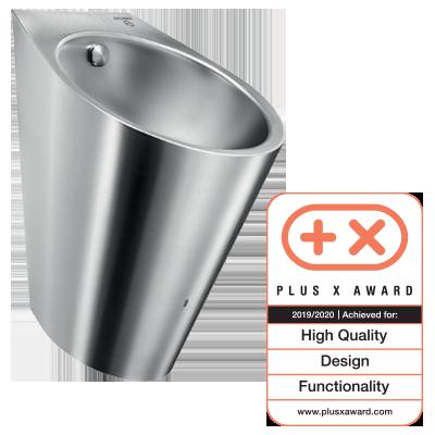 Edelstahl-Urinal mit Hybrid-Spülsystem HYBRIMATIC FINO ist Preisträger des PLUS X AWARD 2019/2020