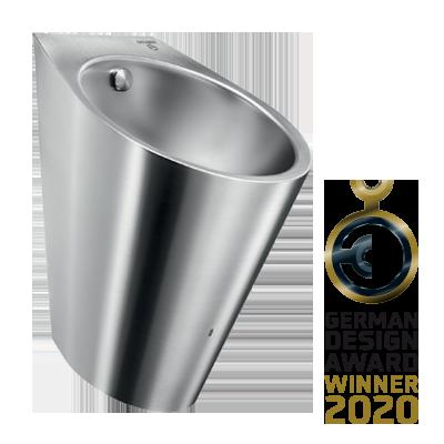Edelstahl-Urinal mit Hybrid-Spülsystem HYBRIMATIC FINO beim GERMAN DESIGN AWARD 2020 ausgezeichnet