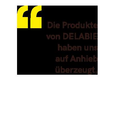 """""""Wir wollten eine kontrastreiche Ausstattung und waren seit langem auf der Suche nach sanitären Einrichtungen aus Edelstahl. Die Produkte von DELAB..."""