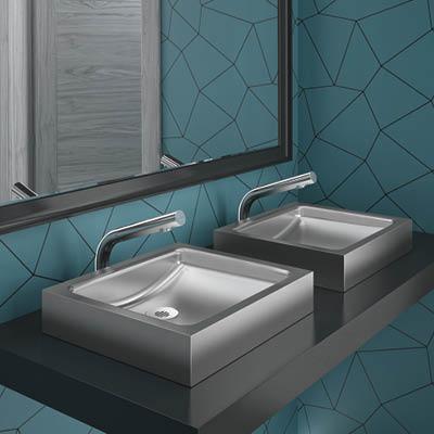 Design-Waschtisch aus Edelstahl UNITO