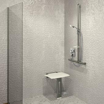 Barrierefreie Hotel-Dusche