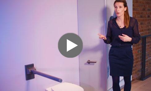 Entdecken Sie im Video unseren Stützklappgriff Be-Line®, der sich dem Design für Alle verschreibt