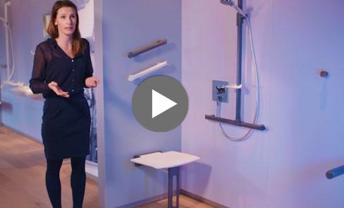Entdecken Sie im Video unseren Duschklappsitz Be-Line®, der sich dem Design für Alle verschreibt