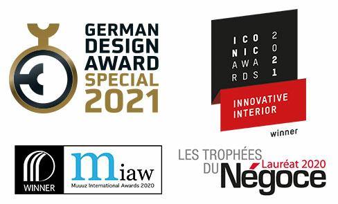 Produkt bei mehreren Design-Awards ausgezeichnet