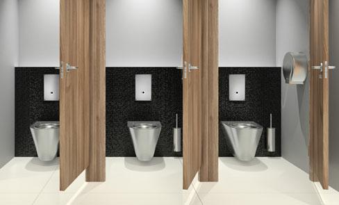 Das WC-Druckspülsystem, die Revolution im öffentlichen Bereich
