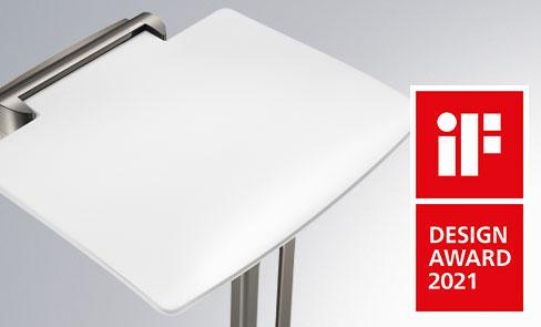 Der Duschsitz Be-Line® erhält den iF DESIGN AWARD 2021 - Kategorie Product - bathroom